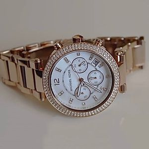 Michael Kors Parker Rose Gold Ladies Watch MK5491